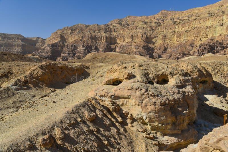 Formações de rocha no vale de Timna, Israel foto de stock royalty free