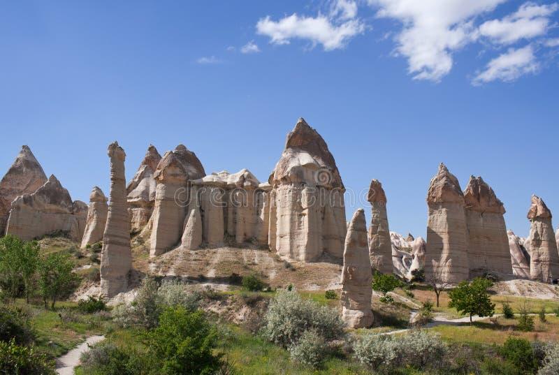 Formações geological originais em Cappadocia, Turquia imagens de stock royalty free