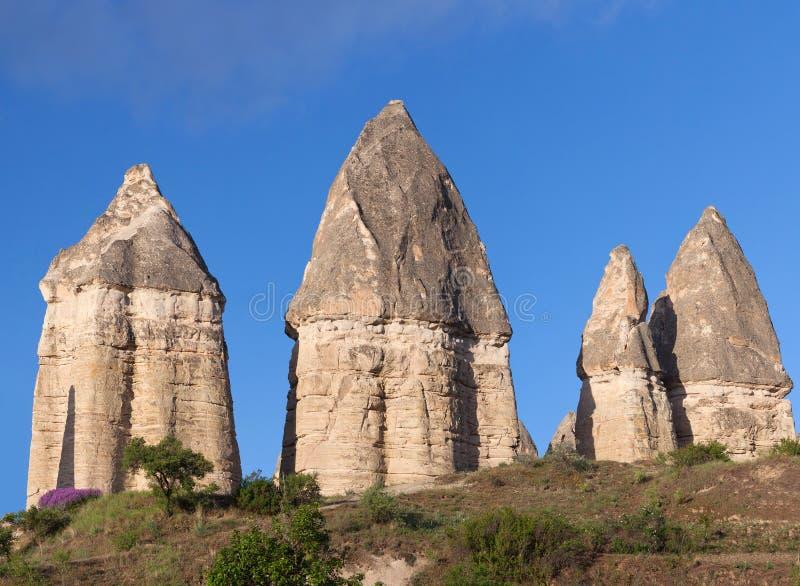Formações geological originais em Cappadocia, Turquia foto de stock royalty free