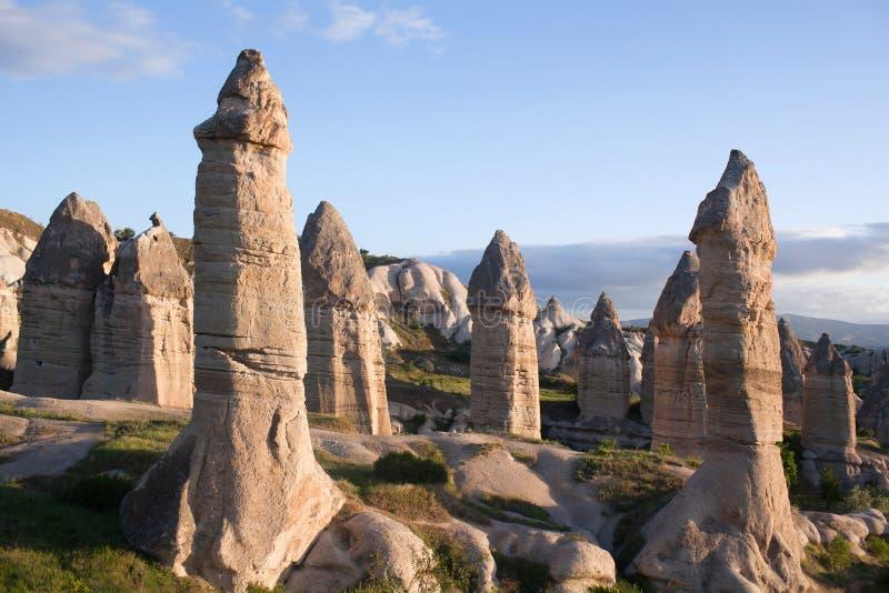 Formações geological originais em Cappadocia, Turquia fotos de stock royalty free