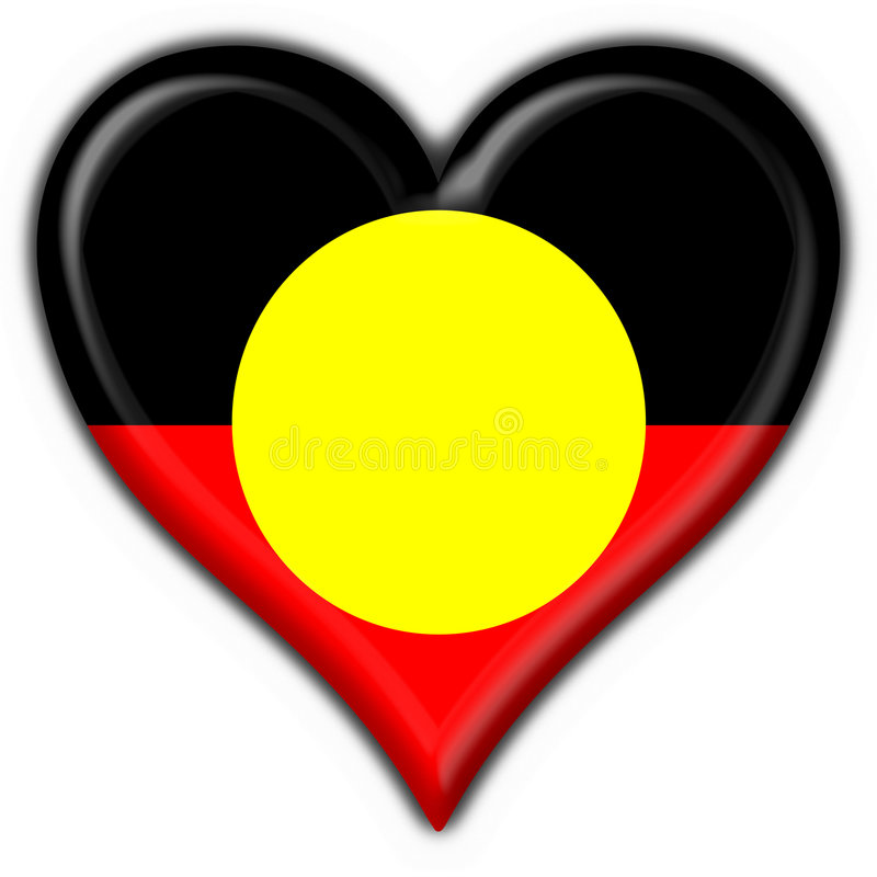 Forma aborígene australiana do coração da bandeira da tecla ilustração stock