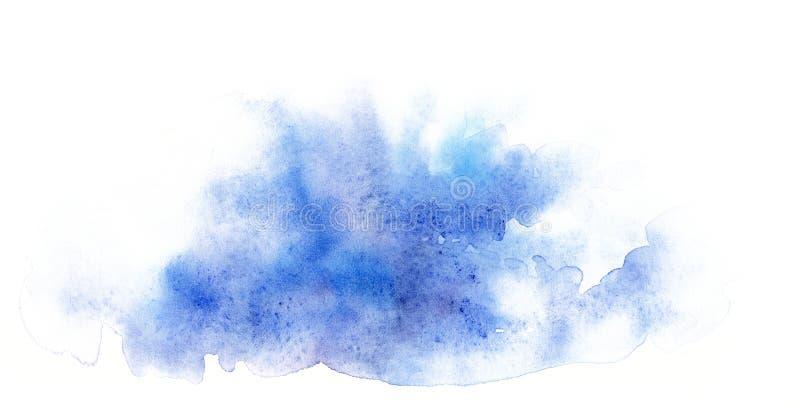 Forma abstracta azul de la acuarela Plantilla para el diseño de carteles, invitaciones, tarjetas imágenes de archivo libres de regalías