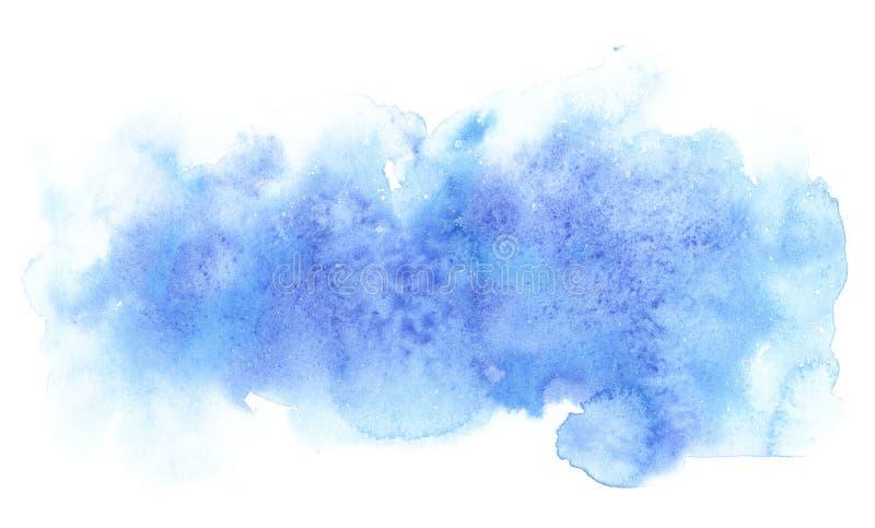 Forma abstracta azul de la acuarela Plantilla para el diseño de carteles, invitaciones, tarjetas fotos de archivo libres de regalías