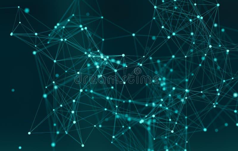 Forma abstracta 3d para la molécula científica o de la tecnología de las presentaciones y el fondo de la comunicación foto de archivo