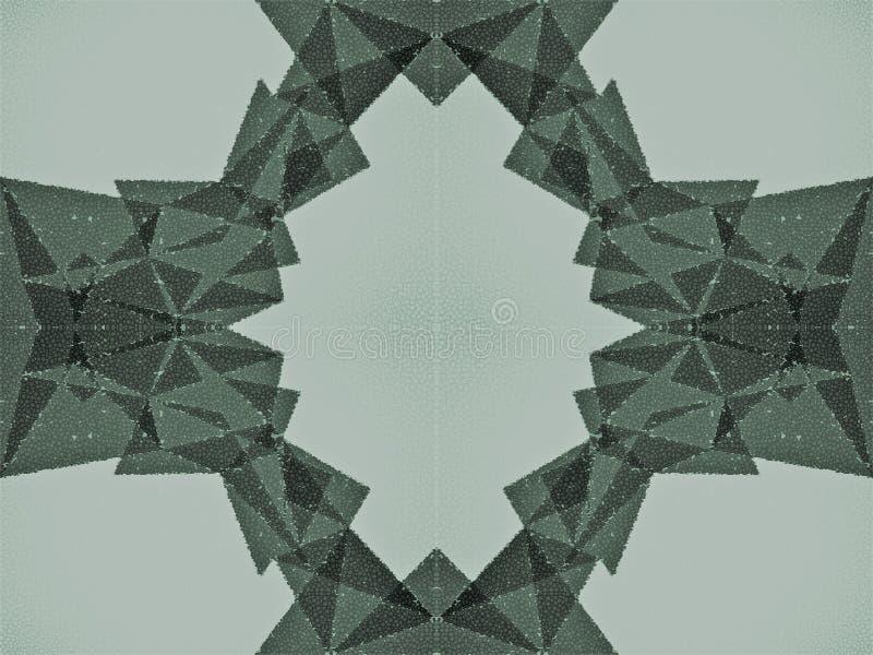 Forma abstracta hecha de pequeños círculos libre illustration