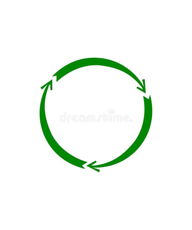 Forma abstrata com setas verdes ilustração stock