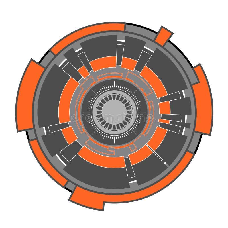 Forma abstrata da tecnologia ilustração stock