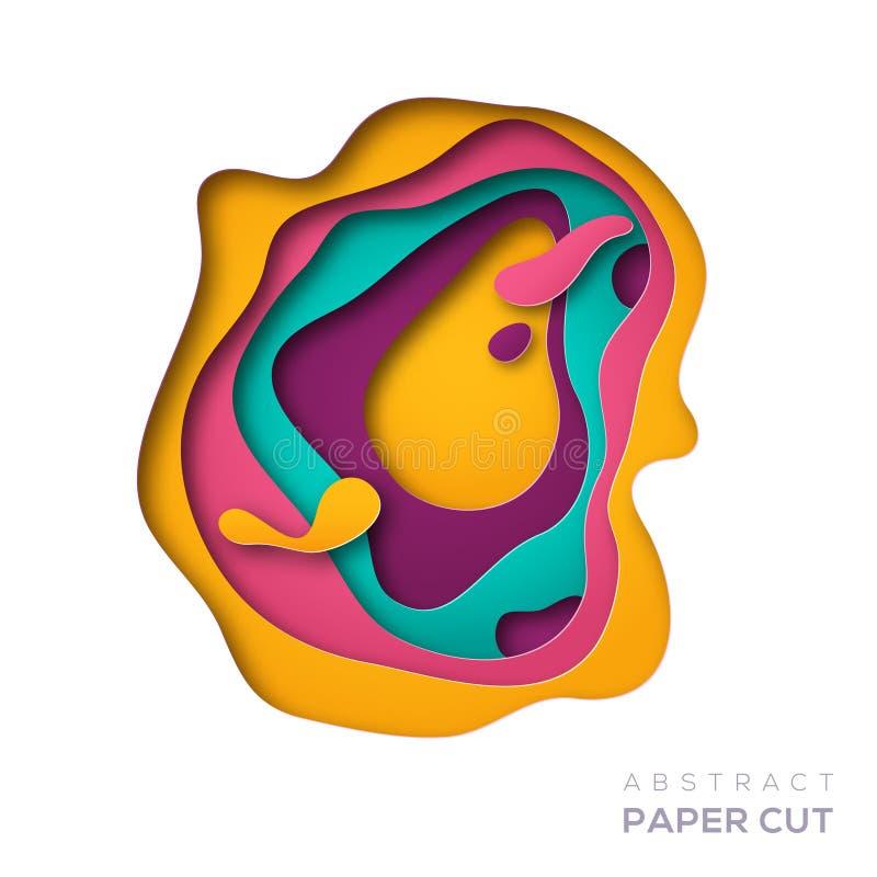 Forma abstrata do corte do papel ilustração do vetor