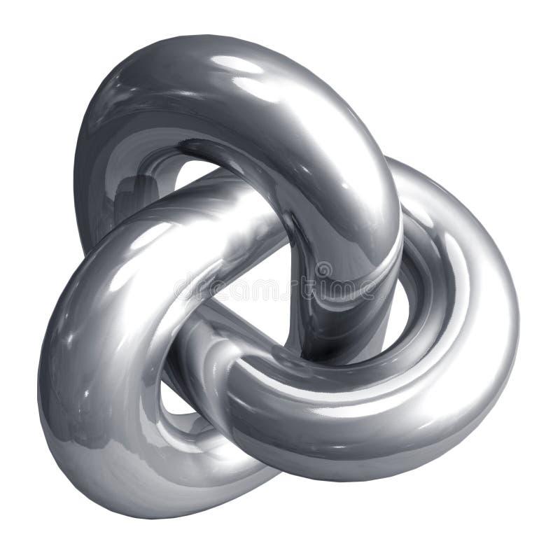 Forma abstrata do metal ilustração do vetor