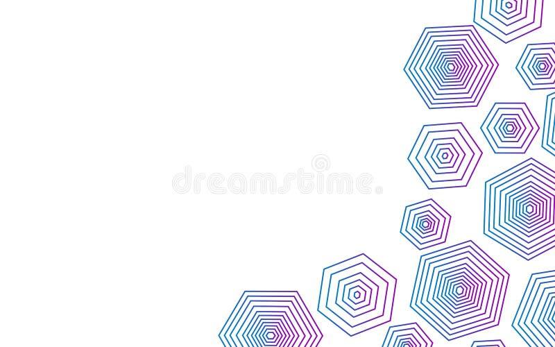 Forma abstrata do polígono com fundo branco foto de stock royalty free