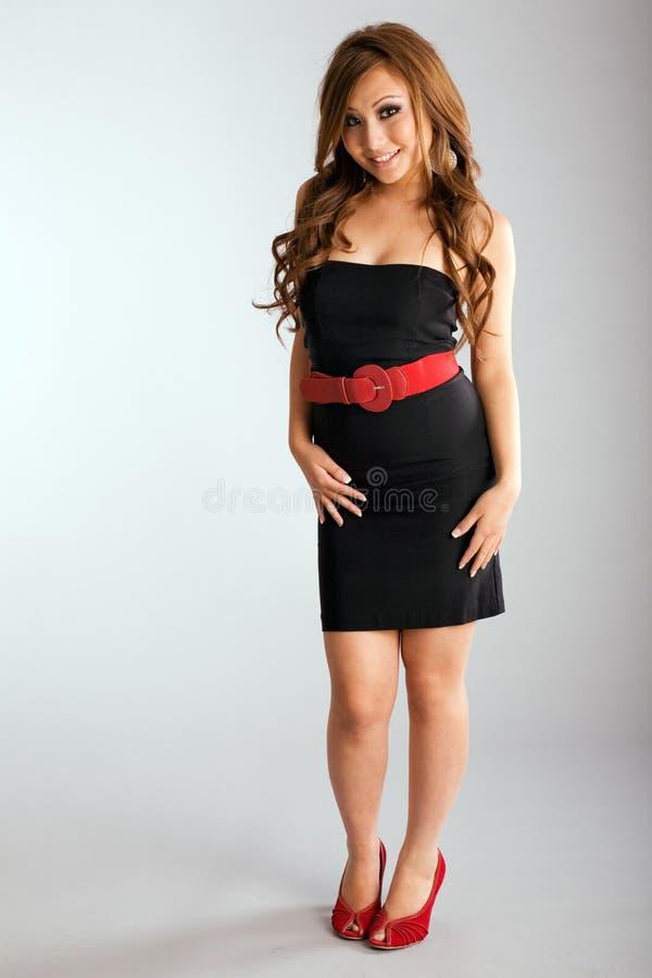 Forma adolescente do vestido fotografia de stock