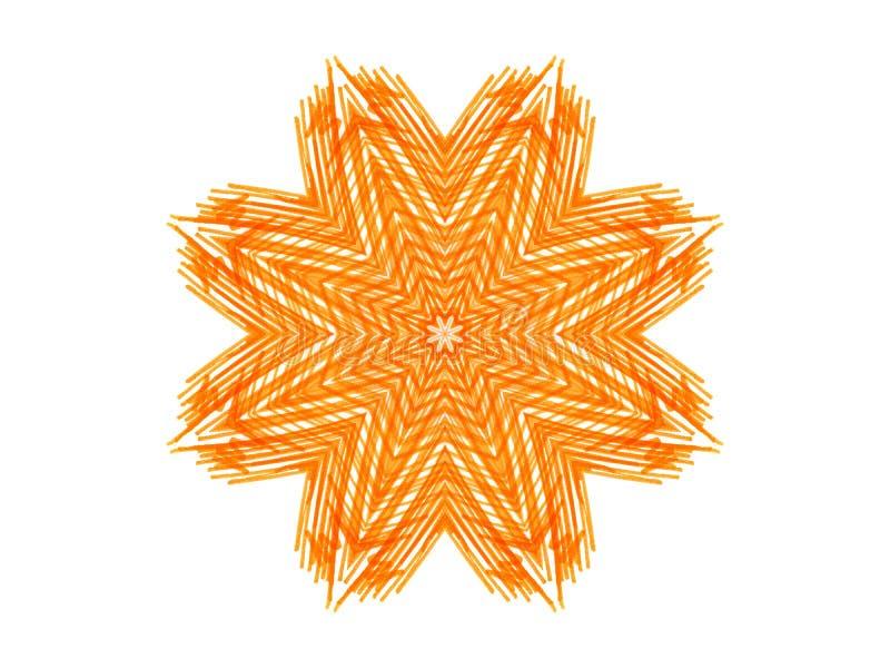 Forma anaranjada abstracta de la estrella libre illustration