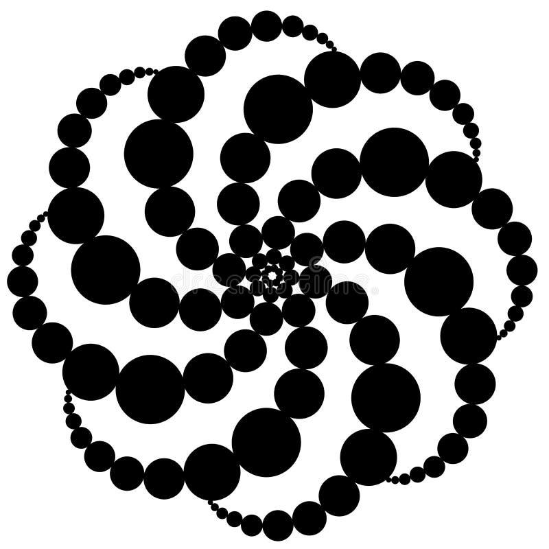 forma antiga geométrica do logotipo do sumário isolada ilustração royalty free