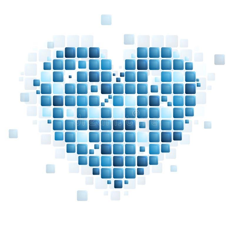 Forma astratta del cuore di tecnologia royalty illustrazione gratis