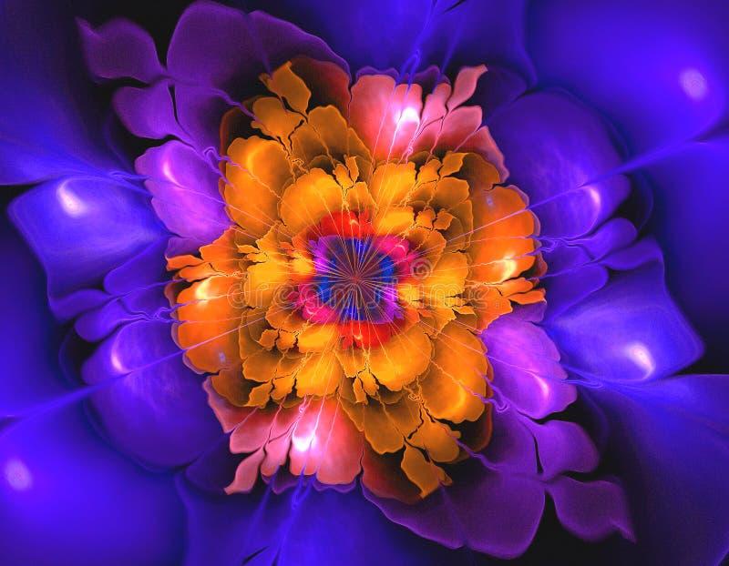 Forma astratta di frattale del fiore immagini stock