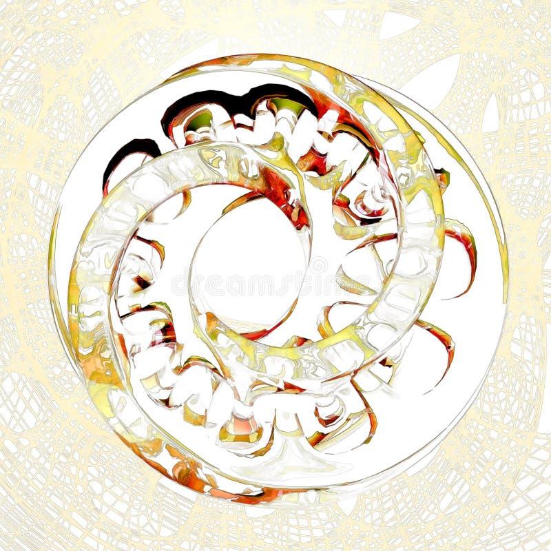 Forma astratta luminosa su una griglia del fondo illustrazione vettoriale
