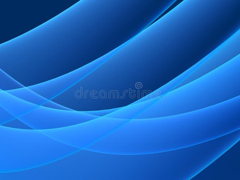 Forma azul ilustração royalty free