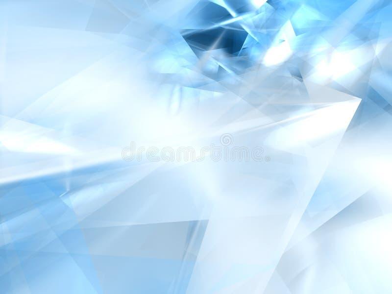 Forma azul abstrata ilustração royalty free