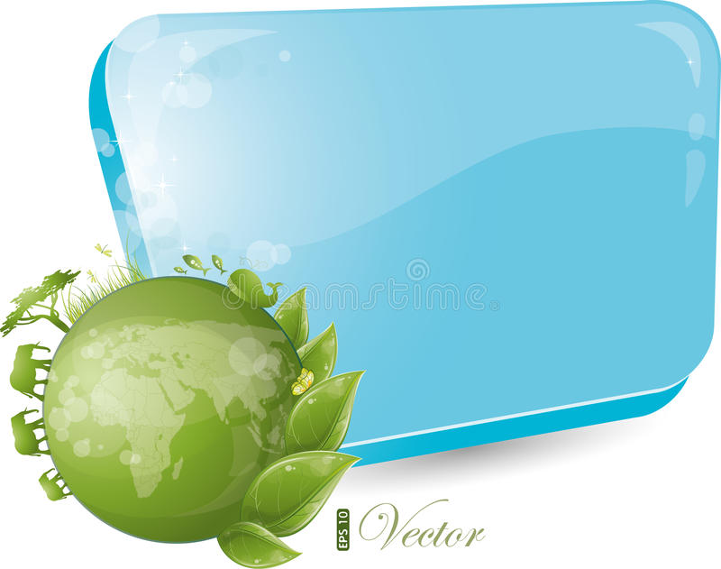 Forma azul con diseño redondo de la naturaleza libre illustration