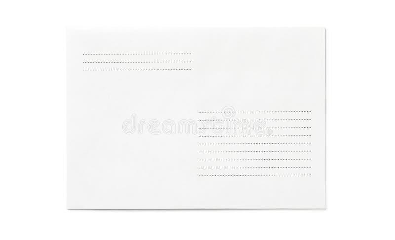 Forma blanca cerrada del sobre con las líneas imagenes de archivo