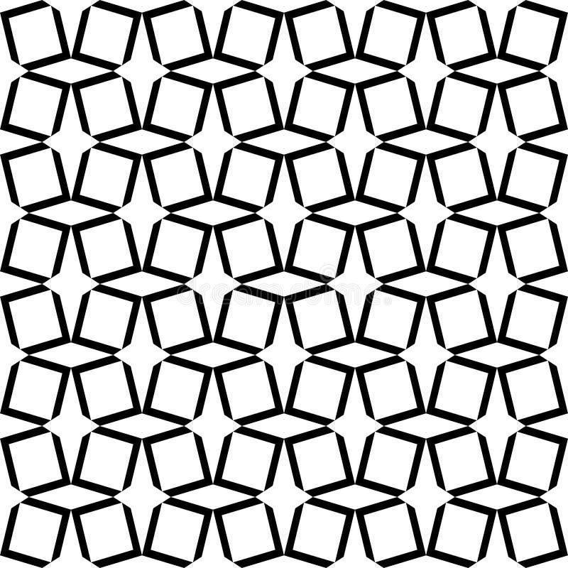 Forma blanco y negro abstracta inconsútil del diamante ilustración del vector