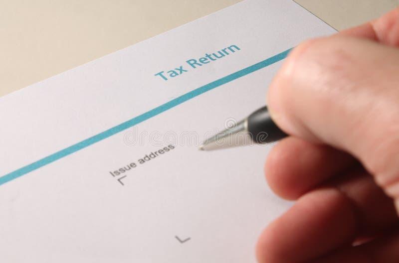 Forma BRITÁNICA de la declaración de impuestos de la autovaloración imagenes de archivo