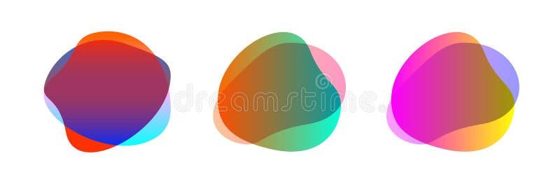 Forma colorida de la gota libre del sistema para el fondo, del cepillo simple de la gota gota plana geométrica plana, líquido de  ilustración del vector
