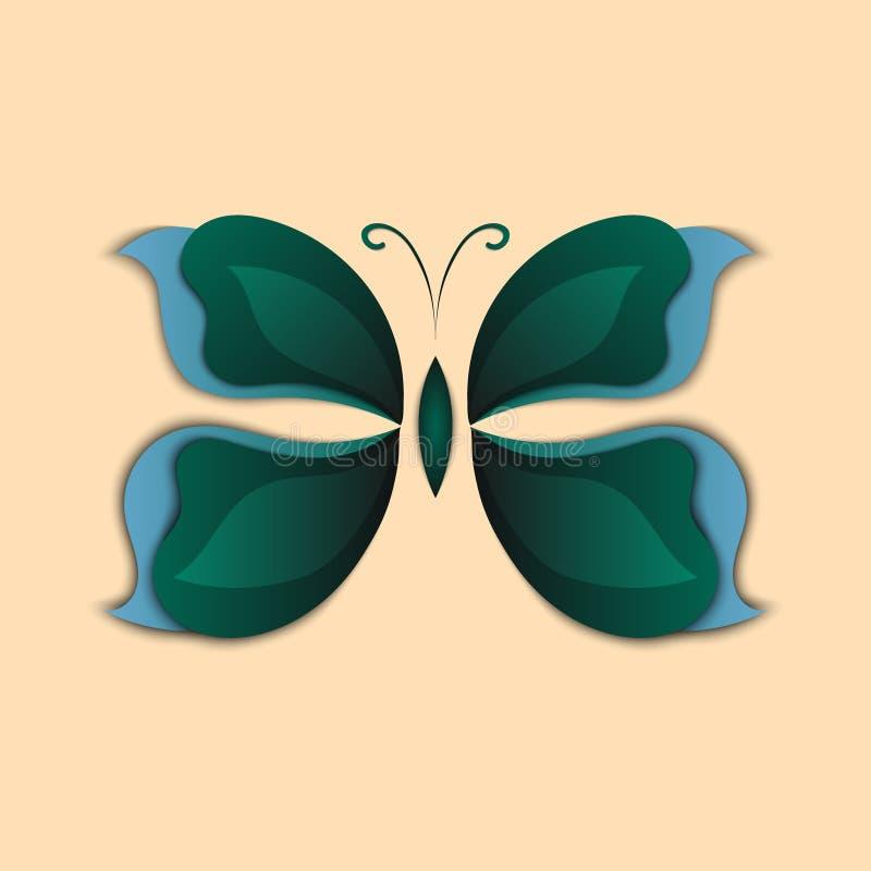 forma colorida de la mariposa abstracta de papel 3D libre illustration