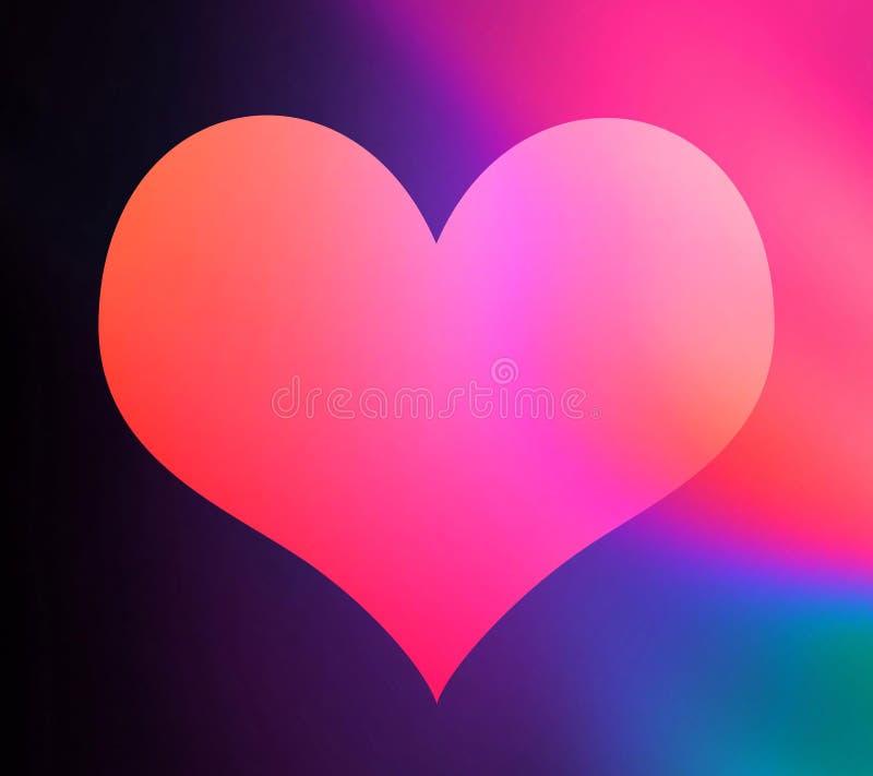 Forma colorida do coração ilustração stock