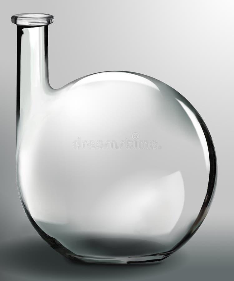 Forma creativa do frasco de vidro ilustração royalty free
