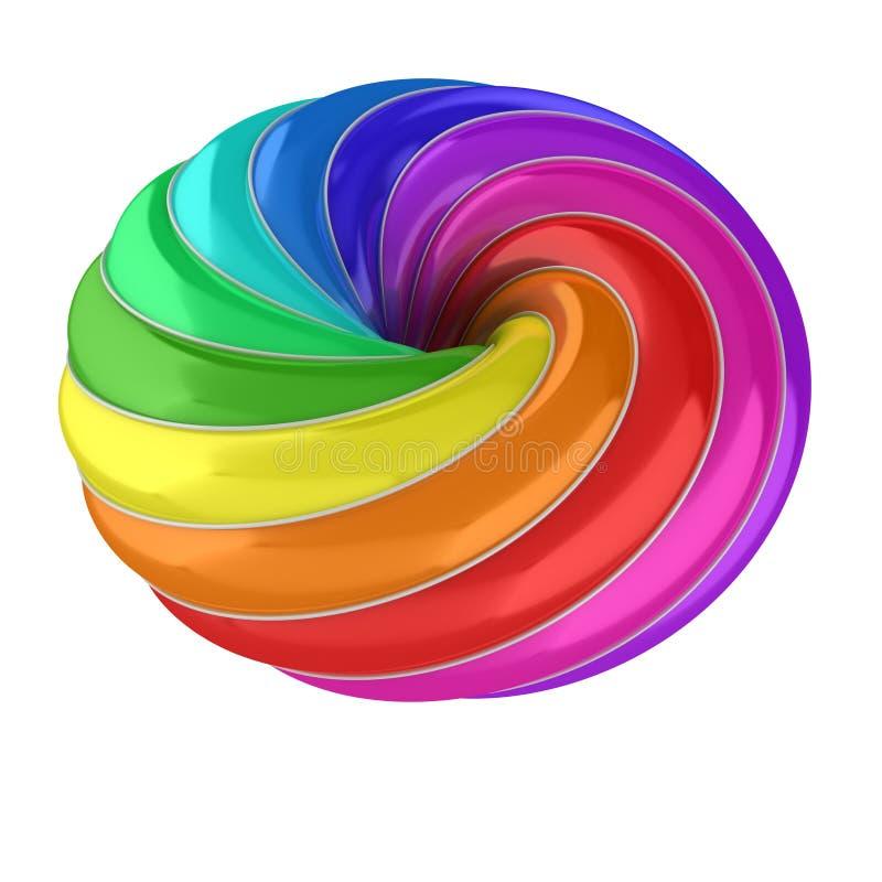 forma 3d colorida abstrata ilustração stock