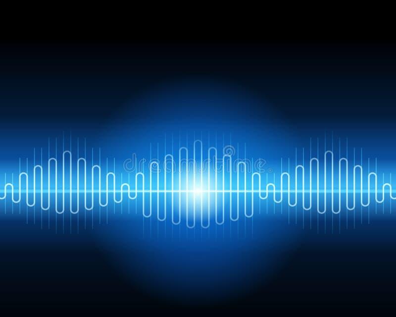 Forma d'onda blu astratta illustrazione di stock