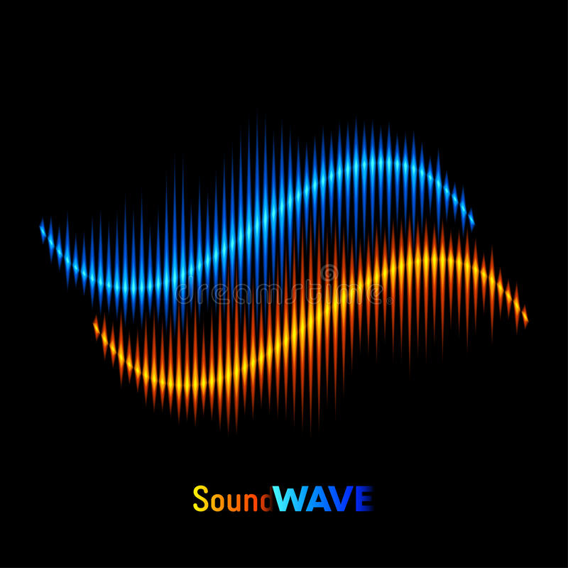Forma d'onda del suono stereo royalty illustrazione gratis