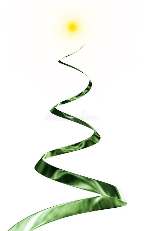 forma da árvore de Natal 3d ilustração do vetor
