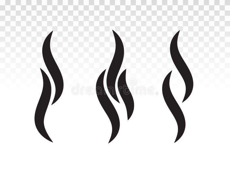Forma da chama do fumo ou do vapor para o projeto do logotipo ou do ícone ilustração royalty free