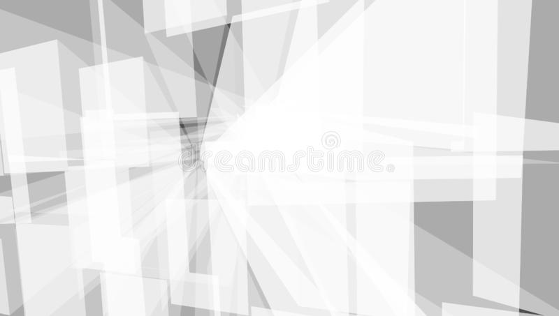 Forma da cidade de Grey Geometric Technology Background With ilustração royalty free