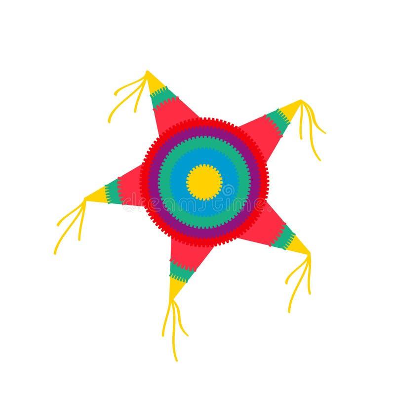 Forma da estrela do Pinata ilustração stock