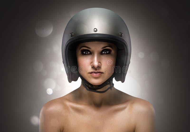 Forma da menina do motociclista imagem de stock royalty free