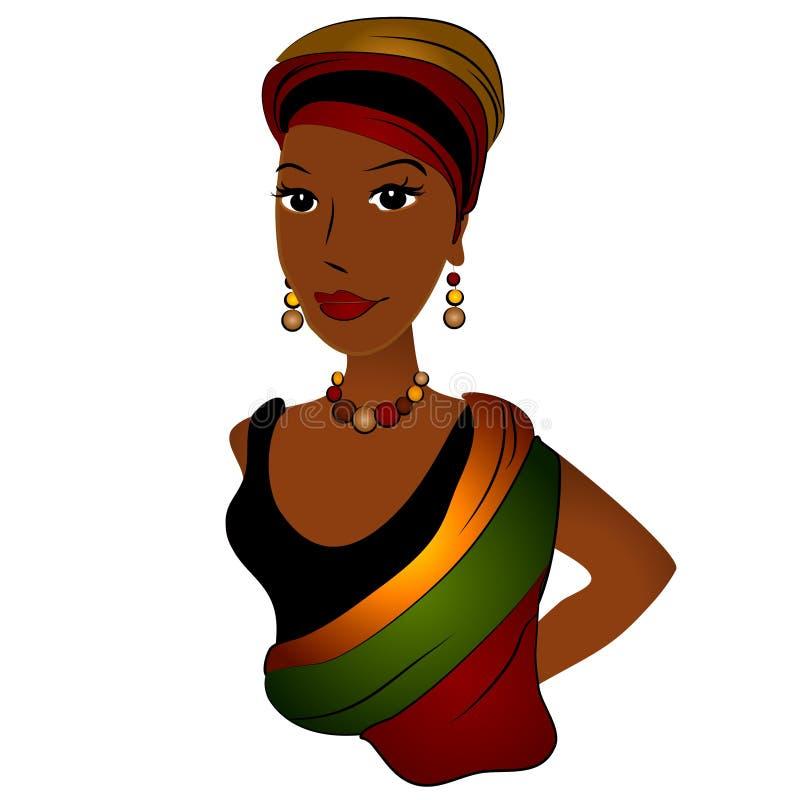 Forma da mulher do americano africano ilustração royalty free