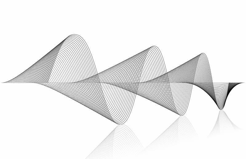 Forma da perspectiva de ondas sadias da música ilustração do vetor