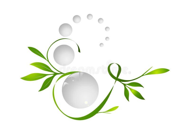 Forma da planta ilustração royalty free