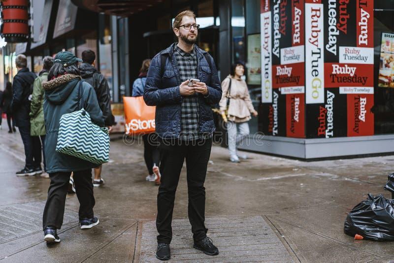 Forma da rua em New York, Manhattan imagem de stock royalty free