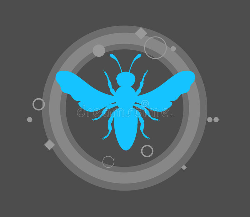 Forma da vespa ilustração stock