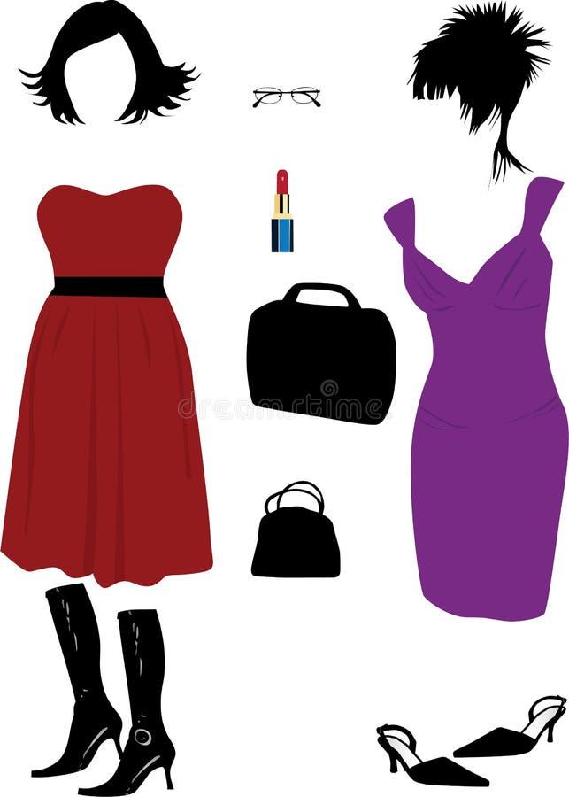 Forma das mulheres ilustração royalty free