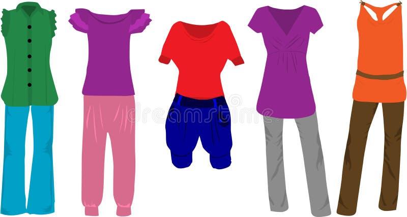 Forma das mulheres - roupa ilustração royalty free