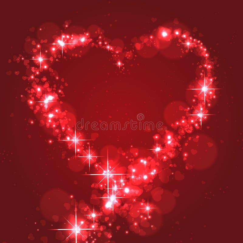 Forma de cintilação do coração para o amor ilustração do vetor