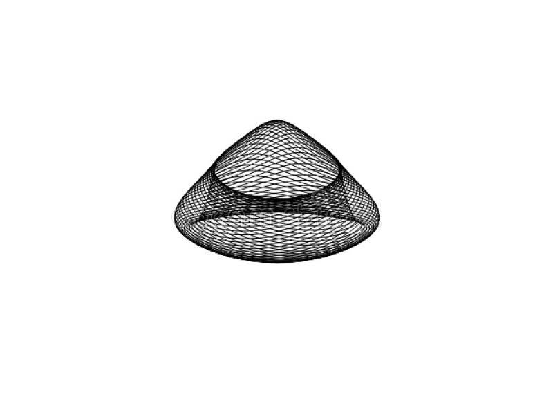 Forma de cono del vector de Digitaces fotos de archivo