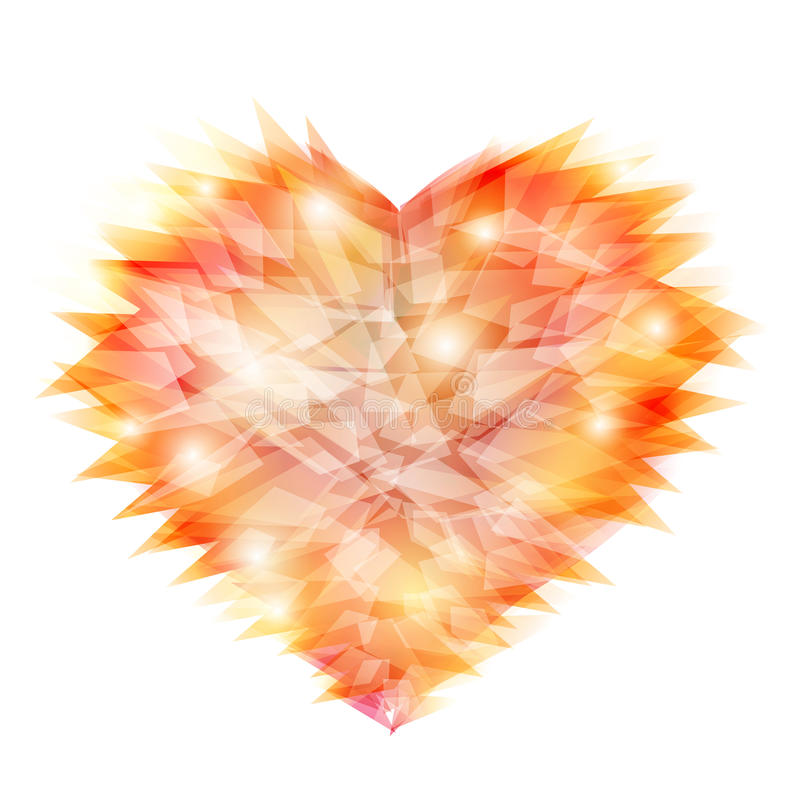 Forma de cristal do amor ilustração stock
