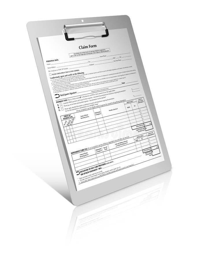 Forma de demanda fotografía de archivo