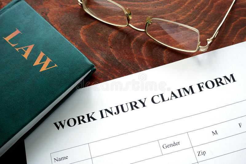 Forma de demanda de la lesión de trabajo  fotografía de archivo